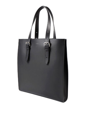Fendi: totes bags online - Matte leather minimal tote