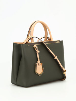 Fendi: totes bags online - Petite 2 Jours two-tone leather bag