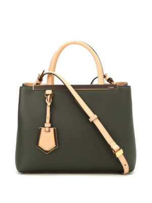 Fendi: totes bags - Petite 2 Jours two-tone leather bag