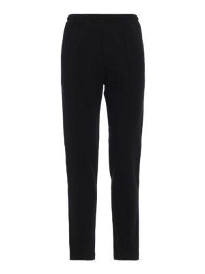 FENDI: pantaloni sport - Joggers in misto cotone con bande FF