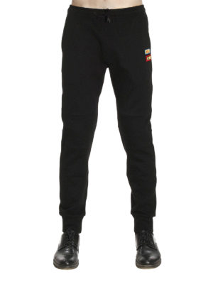 Fendi: tracksuit bottoms online - Words patches tracksuit bottom