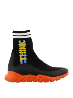 Fendi: trainers - Think Fendi knit high-top sneakers