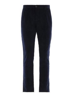 FORTELA: pantaloni casual - Pantaloni in velluto a costine blu