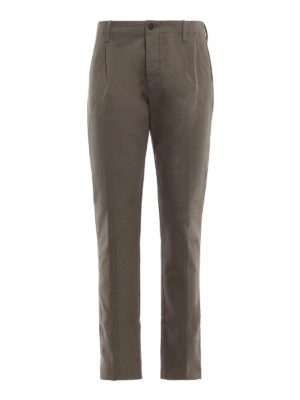 FORTELA: pantaloni casual - Pantaloni in pesante twill di cotone verde
