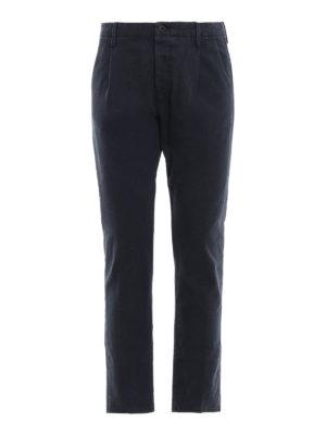 FORTELA: pantaloni casual - Pantaloni in pesante twill di cotone blu