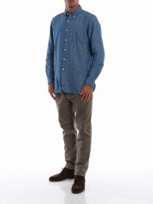 FORTELA: pantaloni casual online - Pantaloni in pesante twill di cotone verde