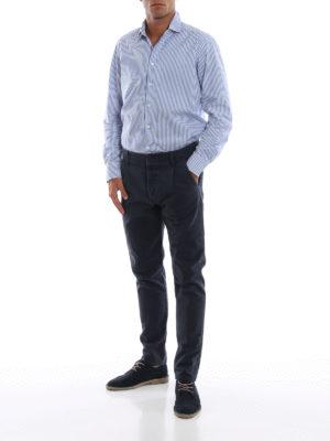FORTELA: pantaloni casual online - Pantaloni in pesante twill di cotone blu