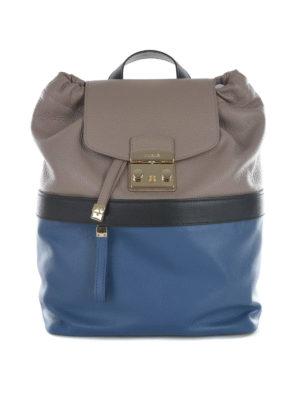 Furla: backpacks - Lara bicolour leather backpack