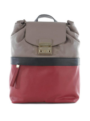 Furla: backpacks - Lara bicolour leather backpack