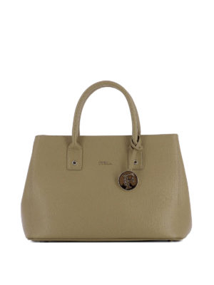 Furla: bowling bags - Linda saffiano leather hand bag