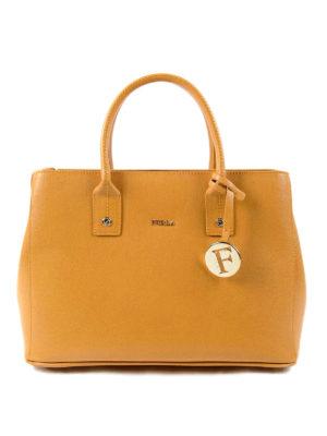 Furla: bowling bags - Linda saffiano leather small bag