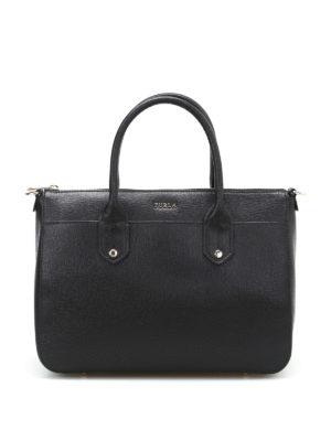 Furla: bowling bags - Mediterranea M black bowling bag