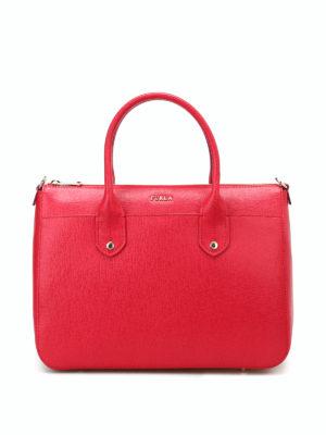 Furla: bowling bags - Mediterranea M red bowling bag