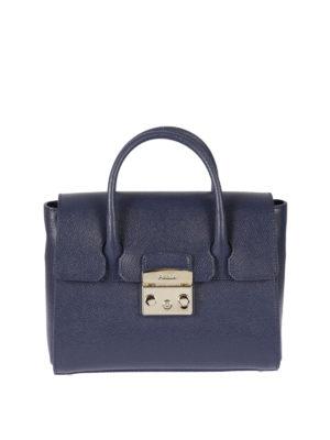Furla: bowling bags - Metropolis leather small satchel