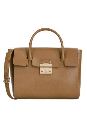 Furla: bowling bags - Metropolis medium leather bag