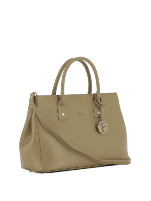 Furla: bowling bags online - Linda saffiano leather hand bag