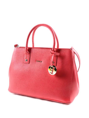 Furla: bowling bags online - Linda saffiano leather small bag