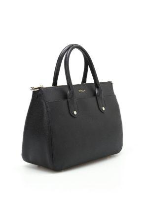 Furla: bowling bags online - Mediterranea M black bowling bag