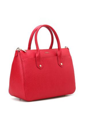 Furla: bowling bags online - Mediterranea M red bowling bag