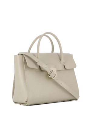 Furla: bowling bags online - Metropolis beige leather hand bag
