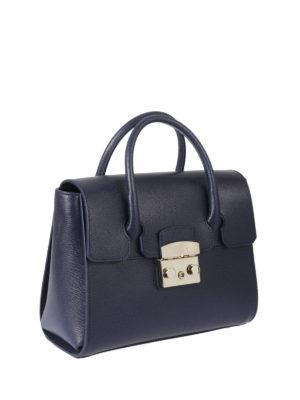 Furla: bowling bags online - Metropolis leather small satchel