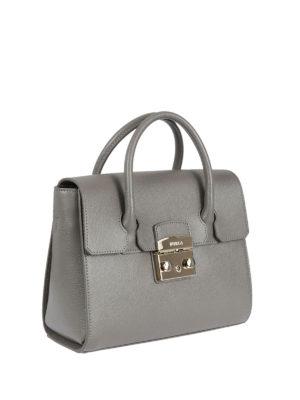Furla: bowling bags online - Metropolis S leather bag