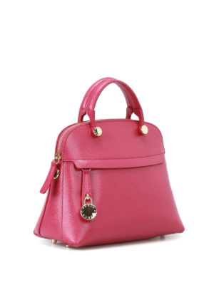 Furla: bowling bags online - Piper leather handbag