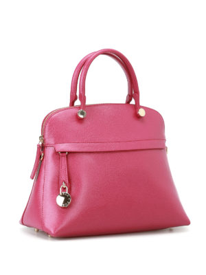 Furla: bowling bags online - Piper printed leather bag