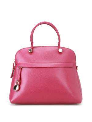 Furla: bowling bags - Piper printed leather bag