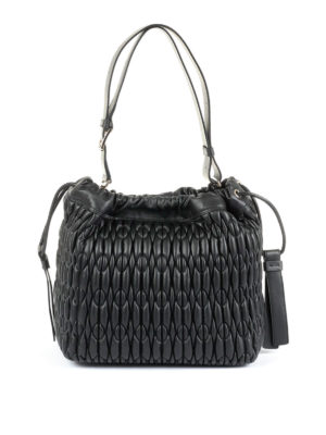 Furla: Bucket bags - Caos quilted leather medium bag
