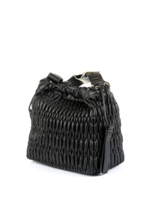 Furla: Bucket bags online - Caos quilted leather medium bag