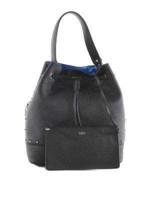 Furla: Bucket bags online - Stacy studded leather bucket bag