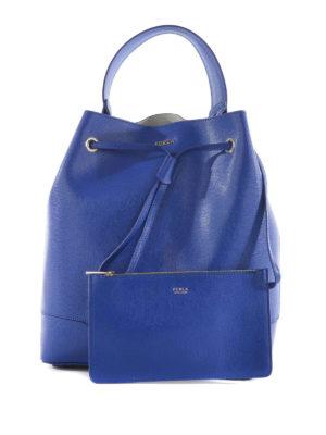 Furla: Bucket bags - Stacy saffiano leather bucket bag