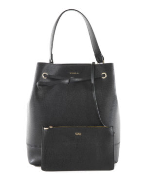 Furla: Bucket bags - Stacy saffiano leather bucket bag