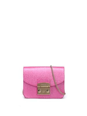 Furla: clutches - Metropolis metallic fuchsia clutch