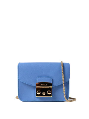 Furla: clutches - Metropolis Mini celeste clutch