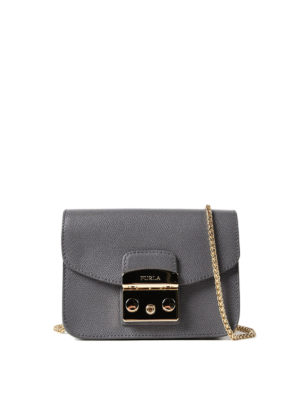 Furla: clutches - Metropolis Mini dark grey clutch