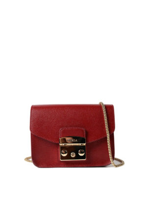 Furla: clutches - Metropolis Mini dark red clutch