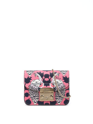Furla: clutches - Metropolis peacock pink clutch