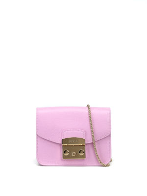 Furla: clutches - Metropolis pink leather clutch