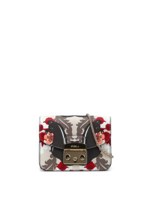 Furla: clutches - Metropolis printed leather clutch
