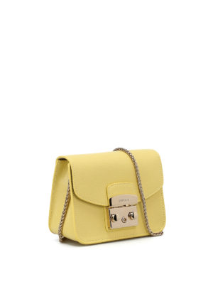 Furla: clutches online - Metropolis lime leather clutch