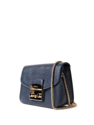 Furla: clutches online - Metropolis Mini dark blue clutch
