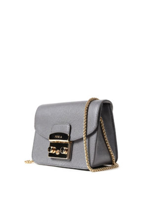 Furla: clutches online - Metropolis Mini dark grey clutch