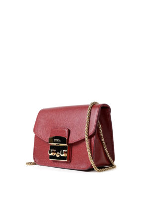 Furla: clutches online - Metropolis Mini dark red clutch