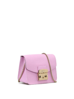 Furla: clutches online - Metropolis pink leather clutch