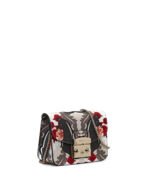 Furla: clutches online - Metropolis printed leather clutch