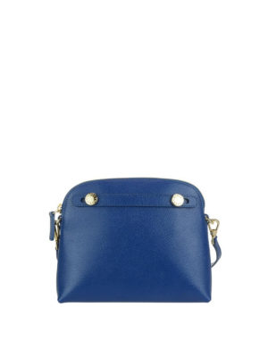 FURLA: pochette - Pochette Piper XL blu pavone