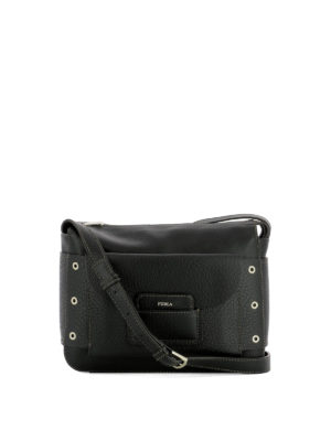 Furla: cross body bags - Adele black leather crossbody bag