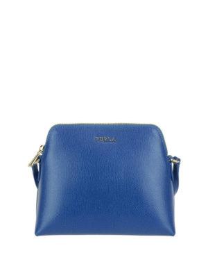 FURLA: borse a tracolla - Tracolla Boheme XL blu pavone